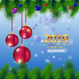 Sposi cartolina d'auguri del nuovo anno e di Natale - vector l'illustrazione fotografie stock libere da diritti