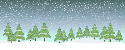 Sposi il cielo blu della neve di Natale illustrazione vettoriale