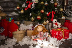 Sposi il Natale ed i desideri del buon anno Immagine Stock Libera da Diritti
