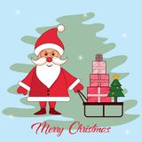 Sposi la carta dell'inverno di Natale illustrazione vettoriale