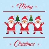 Sposi la carta dell'inverno di Natale Immagine Stock Libera da Diritti