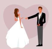 Sposi la proposta illustrazione vettoriale