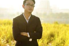 Sposo asiatico Fotografia Stock Libera da Diritti