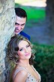 Sposo che fa i fronti Fotografia Stock