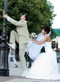 sposo della sposa Fotografie Stock