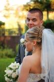 sposo della sposa fotografia stock