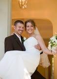 sposo della sposa felice Fotografia Stock