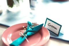 Sposo di nozze Fotografia Stock Libera da Diritti