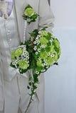 Sposo e fiore Fotografia Stock