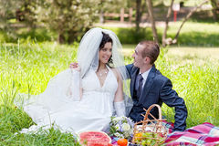 Sposo e la sposa Immagini Stock Libere da Diritti