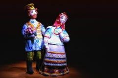 Sposo e la sposa Immagine Stock