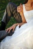 Sposo e la sposa Immagini Stock