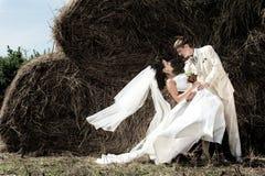 Sposo e sposa Fotografia Stock Libera da Diritti