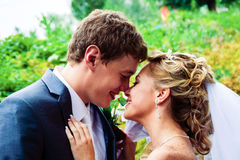 Sposo e sposa Fotografie Stock Libere da Diritti