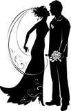 Sposo e sposa Immagini Stock