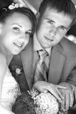 Sposo e sposa Immagine Stock
