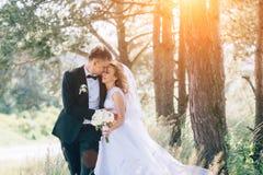 Sposo e sposa insieme Coppie di cerimonia nuziale Immagine Stock Libera da Diritti
