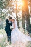 Sposo e sposa insieme Coppie di cerimonia nuziale Fotografia Stock Libera da Diritti