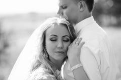 Sposo e sposa insieme Coppie di cerimonia nuziale Fotografie Stock
