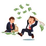 Sposobność łyżkować niektóre dolarowych rachunki royalty ilustracja