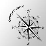 Sposobność pisać na boku kompas Zdjęcia Royalty Free