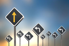 sposobu pojęcie ruchu drogowego znakiem Zdjęcia Stock