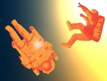 Spostamento degli astronauti Immagini Stock Libere da Diritti