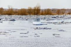 Spostamento del ghiaccio Immagini Stock