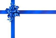 Spostamento di regalo blu Immagini Stock