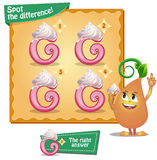Spot the difference letters g. Visual Game for children. Task: Spot the difference letters g Royalty Free Stock Photos