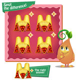 Spot the difference letters m. Visual Game for children. Task: Spot the difference letters m Royalty Free Stock Images