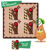 Spot the difference letters n. Visual Game for children. Task: Spot the difference letters n Royalty Free Stock Photos