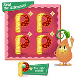Spot the difference letters p. Visual Game for children. Task: Spot the difference letters p Royalty Free Stock Photography