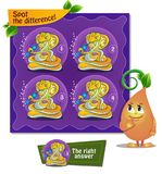 Spot the difference snake flute. Visual Game for children. Task: Spot the difference Royalty Free Stock Image