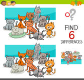 Spot the differences with cats or kittens Stock Photography