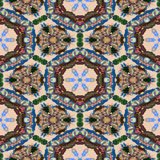 Spot kaleidoscopic seamless generated hires texture. Or background Royalty Free Stock Photos