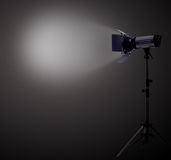 Spot light. In dark room Stock Image