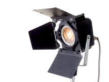 Spot light. The black professinal spot light source on white background Royalty Free Stock Photography