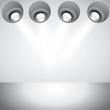 Spot light abstract club gallery interior. background. Illustration Royalty Free Illustration