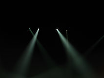 Spot light beams in darkness Royalty Free Stock Image