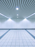 Spot light and blank wall Royalty Free Stock Image