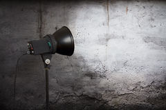 Spot light on concrete wall Royalty Free Stock Images
