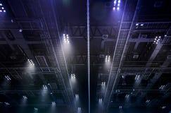 Spot light on interior roof of exhibition hall Stock Photo