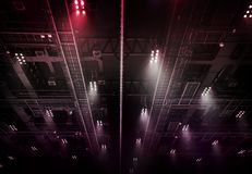 Spot light on interior roof of exhibition hall Royalty Free Stock Photos