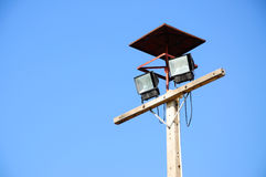 Spot light outdoor. With blue sky stock images