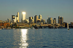 Spot Light on Seattle Royalty Free Stock Photography