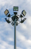 Spot light tower in blue sky Royalty Free Stock Photos