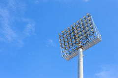 Spot-light tower with Blue Sky Stock Photography