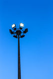 Spot-light tower. The spot-light tower in garden Stock Photography