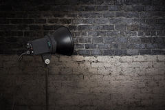 Spot light on wall Stock Images